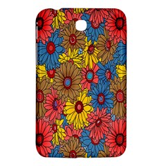 Background With Multi Color Floral Pattern Samsung Galaxy Tab 3 (7 ) P3200 Hardshell Case