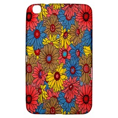 Background With Multi Color Floral Pattern Samsung Galaxy Tab 3 (8 ) T3100 Hardshell Case