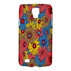 Background With Multi Color Floral Pattern Galaxy S4 Active