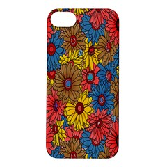 Background With Multi Color Floral Pattern Apple Iphone 5s/ Se Hardshell Case