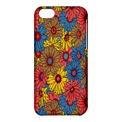 Background With Multi Color Floral Pattern Apple Iphone 5c Hardshell Case