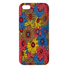 Background With Multi Color Floral Pattern Iphone 5s/ Se Premium Hardshell Case