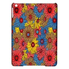 Background With Multi Color Floral Pattern Ipad Air Hardshell Cases