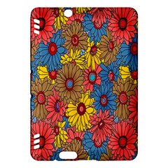 Background With Multi Color Floral Pattern Kindle Fire Hdx Hardshell Case