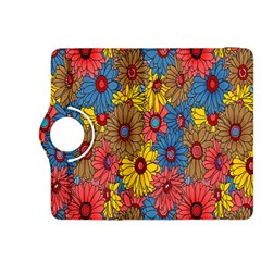 Background With Multi Color Floral Pattern Kindle Fire Hdx 8 9  Flip 360 Case