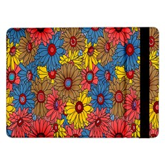 Background With Multi Color Floral Pattern Samsung Galaxy Tab Pro 12 2  Flip Case