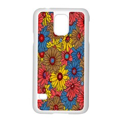 Background With Multi Color Floral Pattern Samsung Galaxy S5 Case (white)