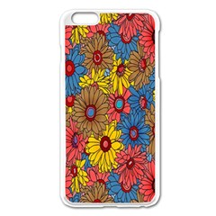 Background With Multi Color Floral Pattern Apple Iphone 6 Plus/6s Plus Enamel White Case