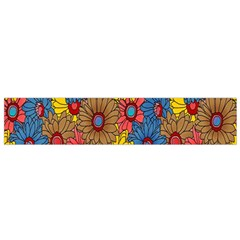 Background With Multi Color Floral Pattern Flano Scarf (small)
