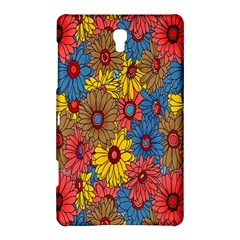 Background With Multi Color Floral Pattern Samsung Galaxy Tab S (8 4 ) Hardshell Case