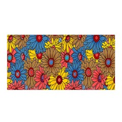 Background With Multi Color Floral Pattern Satin Wrap