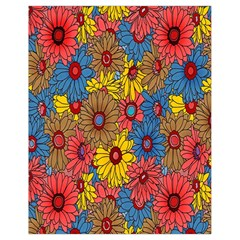 Background With Multi Color Floral Pattern Drawstring Bag (small)
