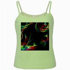 Abstract Rainbow Twirls Green Spaghetti Tank