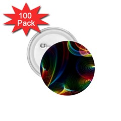 Abstract Rainbow Twirls 1 75  Buttons (100 Pack)