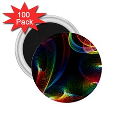 Abstract Rainbow Twirls 2 25  Magnets (100 Pack)