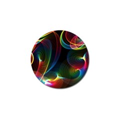 Abstract Rainbow Twirls Golf Ball Marker (10 Pack)