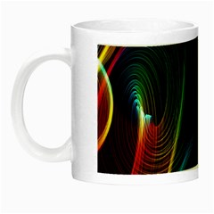 Abstract Rainbow Twirls Night Luminous Mugs