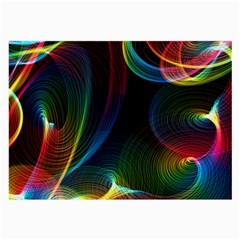 Abstract Rainbow Twirls Large Glasses Cloth