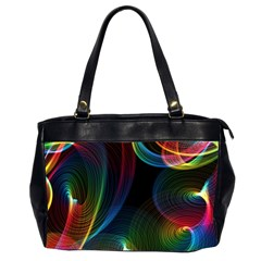 Abstract Rainbow Twirls Office Handbags (2 Sides)