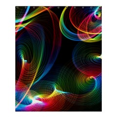 Abstract Rainbow Twirls Shower Curtain 60  X 72  (medium)