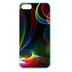 Abstract Rainbow Twirls Apple Seamless Iphone 5 Case (color)