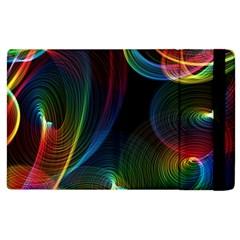 Abstract Rainbow Twirls Apple Ipad 3/4 Flip Case