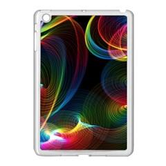 Abstract Rainbow Twirls Apple Ipad Mini Case (white)
