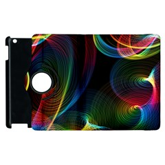 Abstract Rainbow Twirls Apple Ipad 2 Flip 360 Case