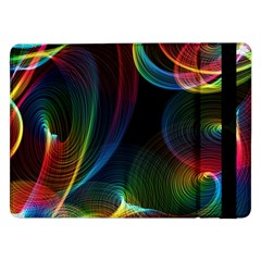 Abstract Rainbow Twirls Samsung Galaxy Tab Pro 12 2  Flip Case