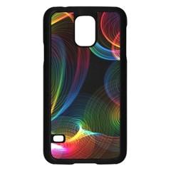 Abstract Rainbow Twirls Samsung Galaxy S5 Case (black)