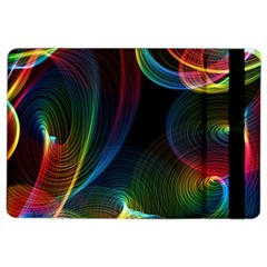 Abstract Rainbow Twirls Ipad Air 2 Flip