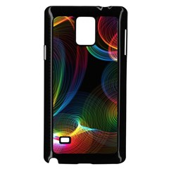 Abstract Rainbow Twirls Samsung Galaxy Note 4 Case (black)