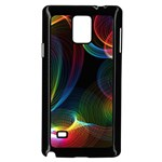 Abstract Rainbow Twirls Samsung Galaxy Note 4 Case (Black) Front