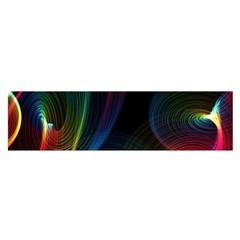 Abstract Rainbow Twirls Satin Scarf (oblong)