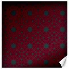 Blue Hot Pink Pattern With Woody Circles Canvas 12  X 12