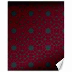 Blue Hot Pink Pattern With Woody Circles Canvas 16  X 20