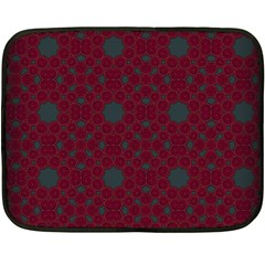 Blue Hot Pink Pattern With Woody Circles Fleece Blanket (mini)