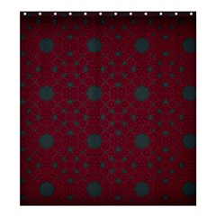 Blue Hot Pink Pattern With Woody Circles Shower Curtain 66  X 72  (large)