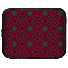 Blue Hot Pink Pattern With Woody Circles Netbook Case (xxl)