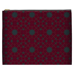 Blue Hot Pink Pattern With Woody Circles Cosmetic Bag (xxxl)