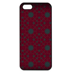 Blue Hot Pink Pattern With Woody Circles Apple Iphone 5 Seamless Case (black)