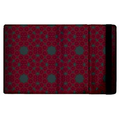Blue Hot Pink Pattern With Woody Circles Apple Ipad 2 Flip Case
