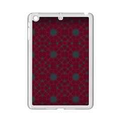 Blue Hot Pink Pattern With Woody Circles Ipad Mini 2 Enamel Coated Cases