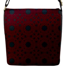 Blue Hot Pink Pattern With Woody Circles Flap Messenger Bag (s)