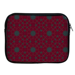 Blue Hot Pink Pattern With Woody Circles Apple Ipad 2/3/4 Zipper Cases
