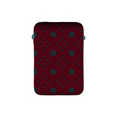 Blue Hot Pink Pattern With Woody Circles Apple Ipad Mini Protective Soft Cases