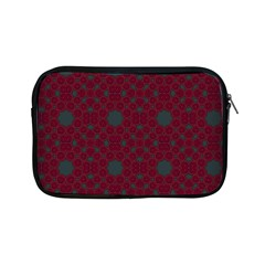 Blue Hot Pink Pattern With Woody Circles Apple Ipad Mini Zipper Cases