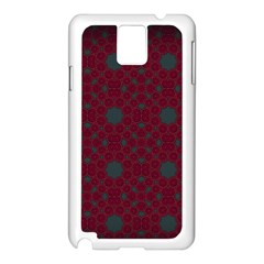 Blue Hot Pink Pattern With Woody Circles Samsung Galaxy Note 3 N9005 Case (white)