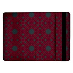 Blue Hot Pink Pattern With Woody Circles Samsung Galaxy Tab Pro 12 2  Flip Case