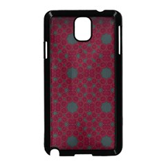 Blue Hot Pink Pattern With Woody Circles Samsung Galaxy Note 3 Neo Hardshell Case (black)